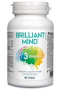 3 Brains Brilliant Mind 90 Softgels