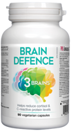 3 Brains Brain Defence 90 Veg Capsules
