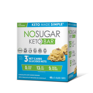 No Sugar Keto Bar Chocolate Chip 12x40 g