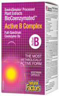 Natural Factors BioCoenzymated Active B Complex 120 Veg Capsules