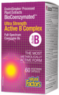 Natural Factors BioCoenzymated Ultra Strength Active B Complex 60 Veg Capsules
