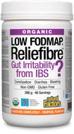 Natural Factors Organic Reliefibre Low FODMAP Tropical Flavour 268 g