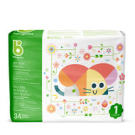 Babyganics Skin Love Diapers Size 1 -Bag of 34