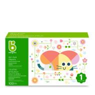 Babyganics Skin Love Diapers Size 1 -Box of 100