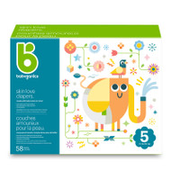 Babyganics Skin Love Diapers Size 5 -Box of 58