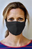 Brave Face Skeena Organic Cotton Reusable Face Mask For Adult- Black