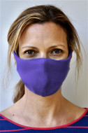Brave Face Skeena Organic Cotton Reusable Face Mask For Adult- True Purple