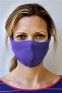 Brave Face Skeena Organic Cotton Reusable Face Mask For Adult- True Purple