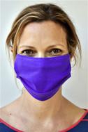 Brave Face Fraser Organic Cotton Reusable Face Mask For Adult- True Purple