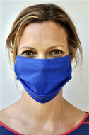Brave Face Fraser Organic Cotton Reusable Face Mask For Adult- Deep Sky Blue