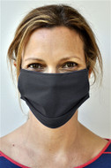 Brave Face Fraser Organic Cotton Reusable Face Mask For Adult- Black