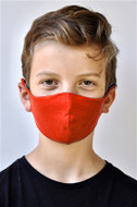 Brave Face Skeena Organic Cotton Reusable Face Mask For Kid - Red