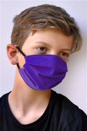 Brave Face Fraser Organic Cotton Reusable Face Mask For Kid - True Purple