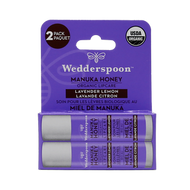 Wedderspoon Organic Manuka Lip Balm Lavender-Lemon Pack of 2