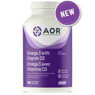 Aor Omega 3 with Vitamin D3 180 Softgels