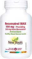 New Roots Resveratrol Max 500mg 60Capsules