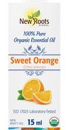 New Roots Sweet Orange Essential Oil 100%PureCertified Organic 15 ml