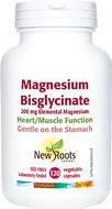 New Roots Magnesium Bisglycinate 200mg Elemental Magnesium 120 Capsules