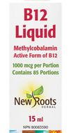 New Roots Liquid B12 Methylcobalamin 1000 mcg 15ml