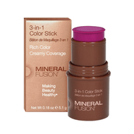 Mineral Fusion  3-In-1 Color Stick Berry Glow 5g