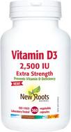 New Roots Vitamin D 2500 IU 360 Capsules