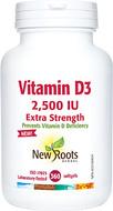 New Roots Vitamin D 2500 IU 360 Softgels