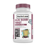 Herbaland Acai Berry Twist Gummies for Adults Sugar Free 90 Gummies
