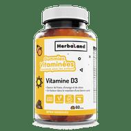 Herbaland Vitamin D Classic Gummy for Kids 60 Gummies