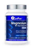 CanPrev Magnesium Bis Glycinate 200 mg Gentle 120 Veg Capsules