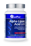 CanPrev Alpha Lipoic Acid 600 mg 60 Veg Capsules