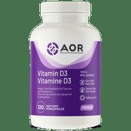 Aor Vitamin D3 1000 IU - 120 Veg Capsules