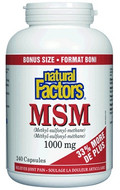 Natural Factors MSM 1000 mg - 240 Capsules
