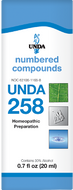 Unda 258 - 20 ml (0.7 fl oz)