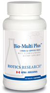 Biotics Research Bio Multi Plus Iron & Copper Free 270 Tablets