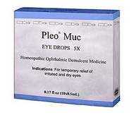Pleo MUC (Mucokehl) eye drops 5X – 10 Single Use Vials