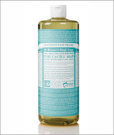 Dr Bronner's Organic Baby Mild Pure Castile Liquid Soap 32 Oz ( 944 ml )