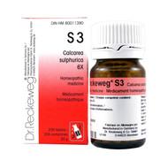 Dr Reckeweg S3 - Calcarea Sulphurica 6X - 200 Tablets (10063)