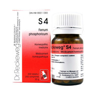Dr Reckeweg S4 - Ferrum Phosphoricum 12X - 200 Tablets (10067)