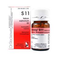 Dr Reckeweg S11 - Natrum Sulphuricum 6X - 200 Tablets