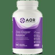 AOR Zinc-Copper Balance 100 Veg Caps
