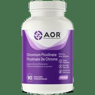 AOR Chromium Picolinate 600 Mcg 90 Veg Capsules