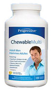 Progressive Adult Men Chewable Multivitamin 60 Tablets
