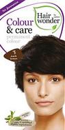 Hair Wonder Colour & Care Permanent Hair Colour Dark Brown 3