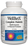 Natural Factors WellBetX Complete Diabetic Multivitamin & Mineral Formula 120 Tablets