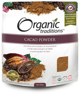 Organic Traditions Cacao Powder - Raw & Organic 227 Grams