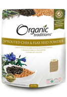 Organic Traditions Sprouted Chia & Flax Seed Powder 454 g