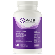 AOR Rhodiola Rosea With Ginseng 60 Veg Capsules