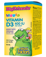 Natural Factors Vitamin D3 For Kids 400 IU Drop 15 Ml