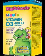 Natural Factors Vitamin D3 For Kids 400 IU Drop 15 Ml