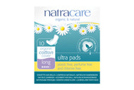 NatraCare Ultra Pads With Wings Long 10 Per Package